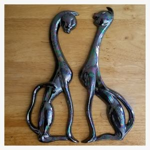 Arners Oil Spill Cat Wall Hanging Figures- a pair
